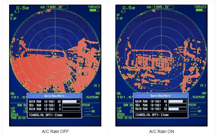 Радар FR 8005 - удаление шумов