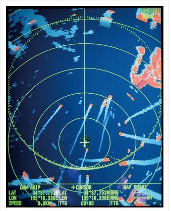 Отображение движения близлежащих судов FR 8XX5