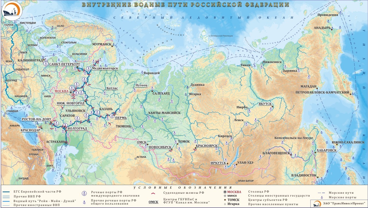 Inland waterways of the Russian Federation