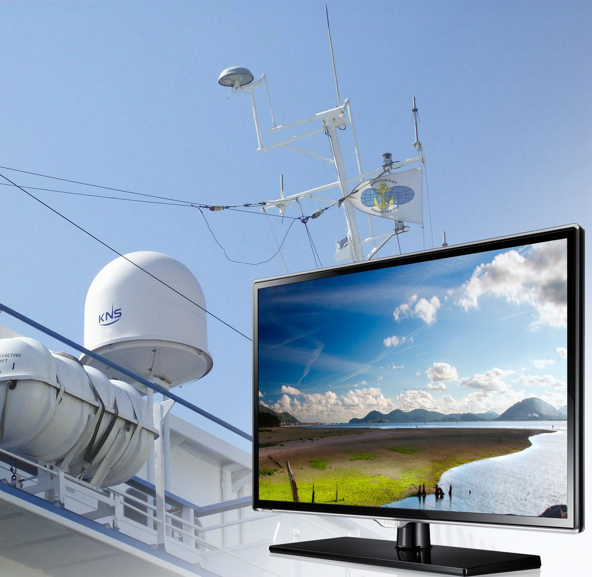 Features of construction of leisure TV system on board